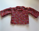 Warm Baby girl sweater 100% Wool