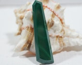 Malachite 47.8x12.7x4mm Hand Cut Natural Gemstone Cabochon Jewelry Making Supplies