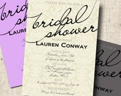Printable Bridal Shower Invitation - Mod Elegant