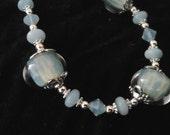Amazonite and boro bead Bracelet
