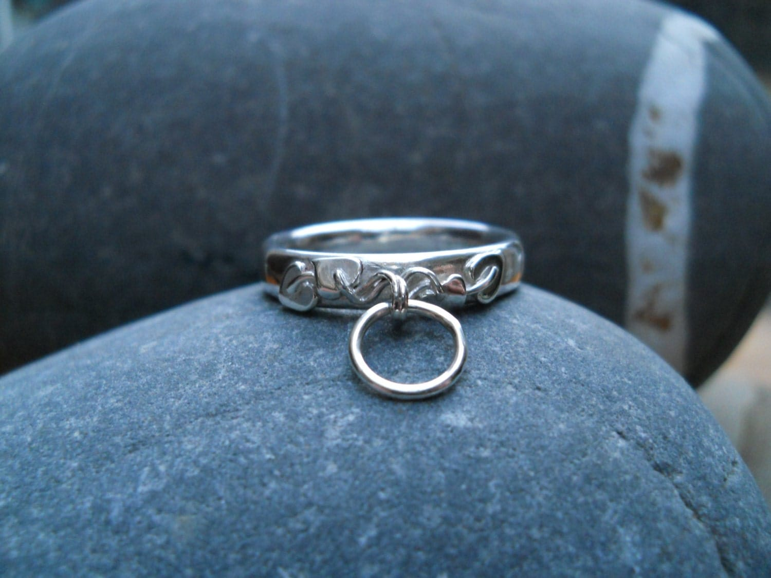 sterling silver embellished story of o ring