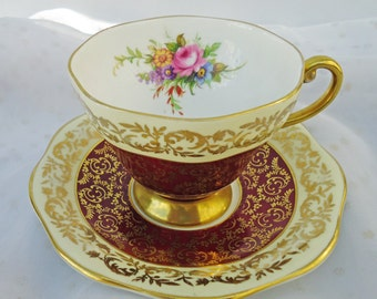 Vintage Foley (Ebrain & Co) Tea Cup and Saucer set circa 1948-1963, UK Seller