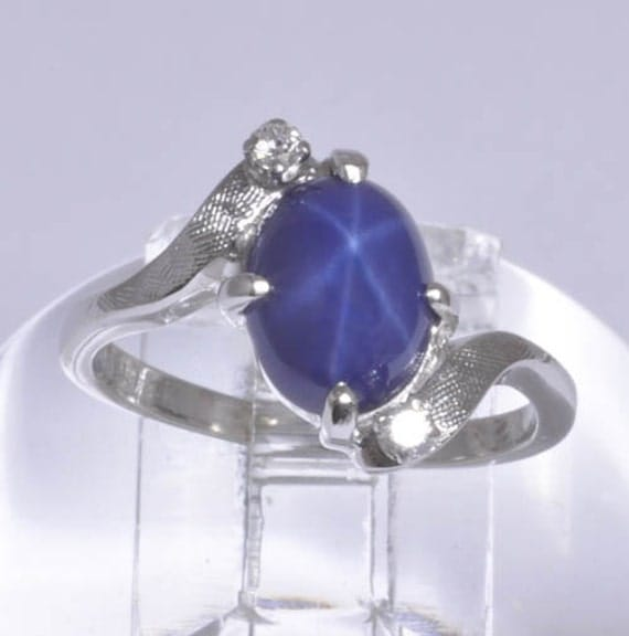Star Sapphire Vintage Rings Women - Other-2482