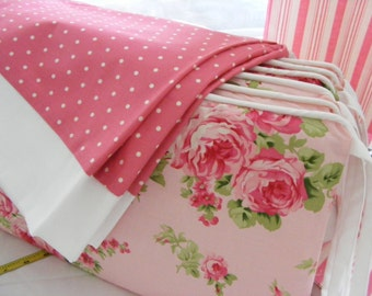 Romantic Cottage Chic Pink  Bedding 3 pieces with Bumper Crib Skirt Sheet