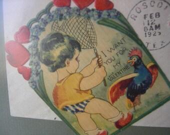 Vintage valentine framed valentine's day gift