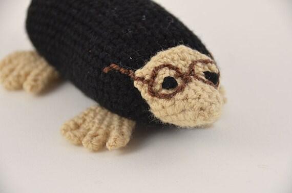 Amigurumi Glasses : Molly the Mole Crochet Pattern, Amigurumi Mole, Crochet ...