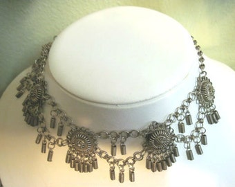 Antique Victorian Etruscan Choker/ Necklace/ Unsigned/ 1800s/ 1900s/ Estate Jewelry