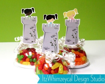 Princess Candy Favor Containers