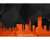 San Francisco Skyline Geometric Print