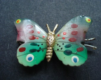 Spectacular Butterfly Colorful Enamel Finish Hair Adornement