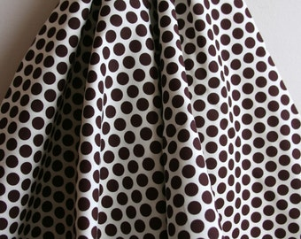 Organic Dottie in Mahogany - Mod Basics Collection from Birch Fabrics - ONE YARD