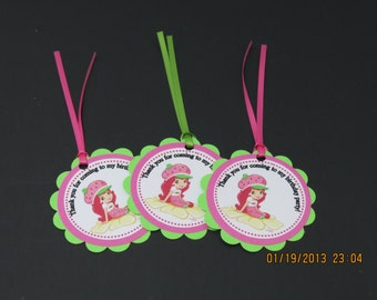 Strawberry Shortcake favor/Gift Tags & Ties