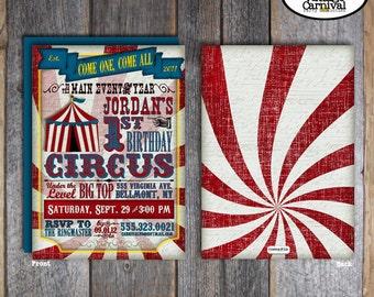 Circus Invitation | Circus Birthday Invitation | Circus Party Invite | Circus Invite | Vintage Circus Invitation | Address Label | Printable