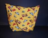 Diaper bag,  over the shoulder, Fire Engine print