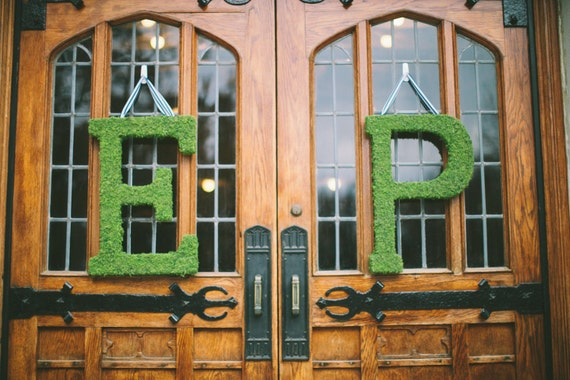 24 inch Moss Letter Moss Covered Monogram Letter-Moss Covered Letter Initial Wedding Home Door-I have made 100s of these