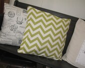Apple Green Chevron Pillow