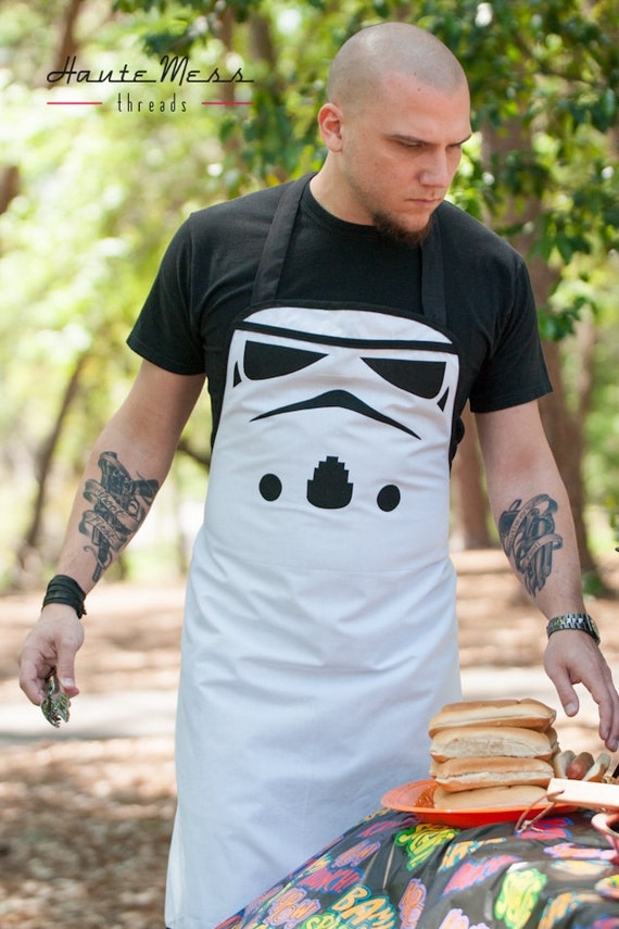Star wars stormtrooper inspirado delantal