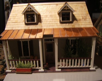 """doll house """"The House that Jack Built"""" Cassie model fully finished ready for furniture, Handmade Custom"""