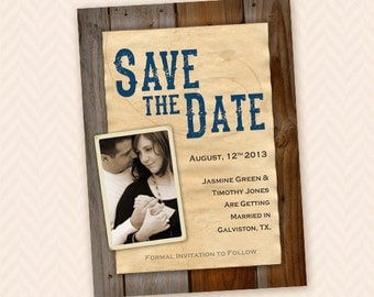 Printable Rustic Country Western Save the Date
