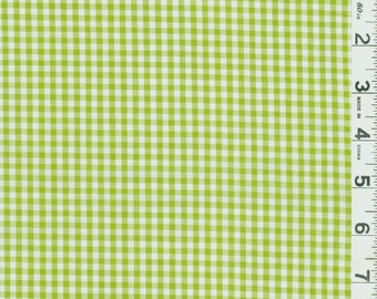 """60"""" Lime Green Gingham Check Fabric (1/8"""" check) 20 Yards By The Bolt"""