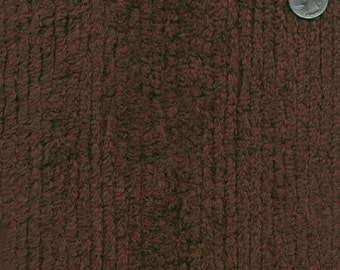 """56"""" 10oz Chocolate Cotton Chenille Fabric-13 Yards Wholesale By The Bolt"""