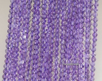3mm Royal Amethyst Gemstone Grade A Light Purple Round 3mm Loose Beads 16 inch Full Strand (90147948-107-3mm F)
