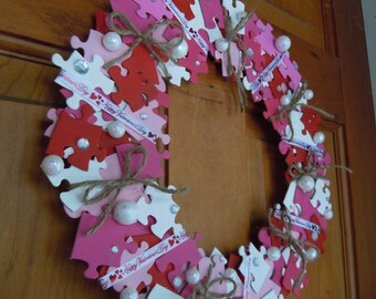 Valentine's Puzzle wreath