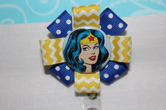 Wonder Woman Retractable Id Name Badge Pull Reel Clip With-2538