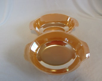 Peach Lustre Serving/Casserole Bowls