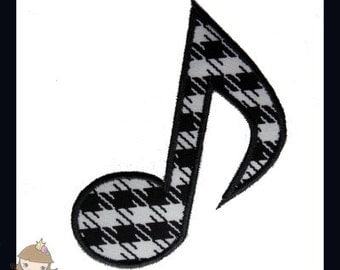 Music Note 1 Applique design