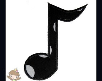 Music Note 2 Applique design