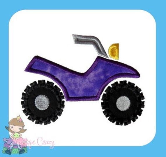 4 Wheeler Applique design