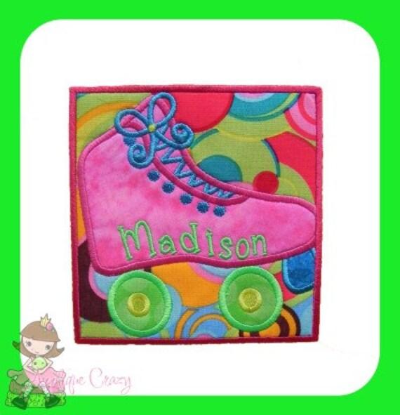 Roller Skate Patch  Applique design