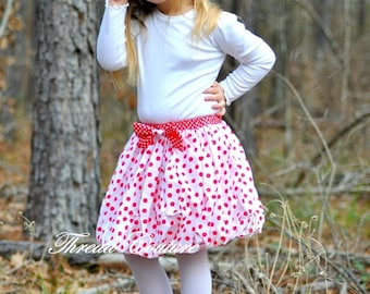 Sewing Pattern Girls Bubble Skirt, INSTANT DOWNLOAD, 6 months to 10 years, Alicia Bubble Skirt