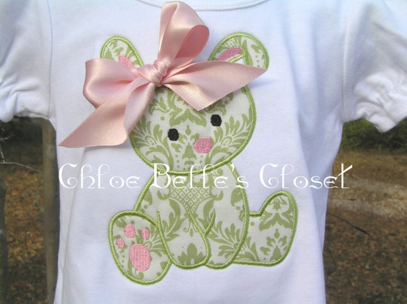 Easter Bunny Shirt and Ruffle Capri or Pant Set sizes 6m - 8Y