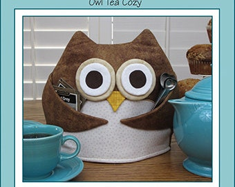Pattern, Owl Tea Cozy, Tea For Who by Susie C Shore