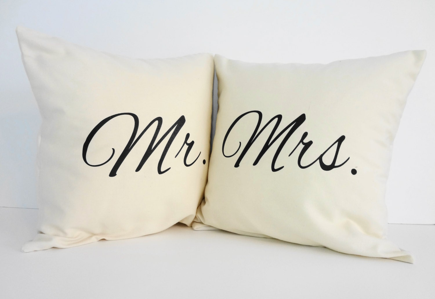 Mr And Mrs Throw Pillow Covers Wedding Gift Accent