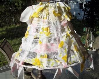 Shabby chic lampshade, chic cottage, beachy theme lampshade