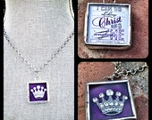 Scripture Shadowbox Soldered Charm Necklace