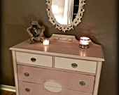 Antique Pink and White Dresser (RESERVED)