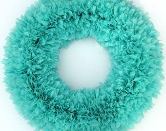 Easter Wreath - Spring Wreath -Indoor Outdoor Wreath - Robin's Egg Blue Wreath - Door Wreath - Spring Wreath - Weatherproof Wreath