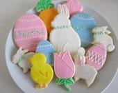 Easter Sugar Cookies, Sugar Cookies, Bunnies, Chicks, Easter Basket