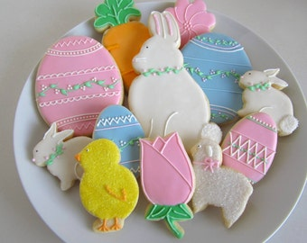 Easter Cookies, Sugar Cookies, Bunnies, Chicks, Easter Basket, Bunny, Rabbit, Eggs, Decorated Eggs, Girls, Boys
