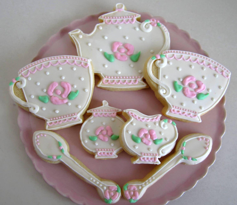 Tea cookies teacup cookies tea favors tea party favors tea for Teacup party favors