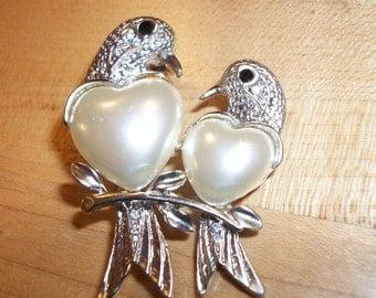 Vintage Love Bird Pin