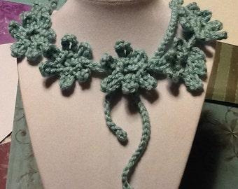 Daisy Aquarium Handmade Crochet Necklace