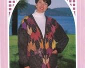 """1991 Back Porch Press """"Maple Leaf Rag Cardigan"""" Quilt Jacket Pattern"""