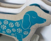 Betty Sausage Dog : Screen Printed Cushion Toy