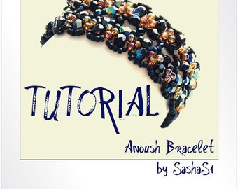 Beading Tutorial DOWNLOAD - Anoush Bracelet with Czech Firepolished Beads