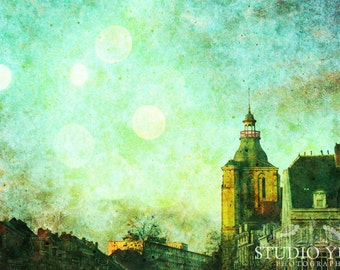 City Photo Maastricht, the Netherlands - Surreal Blue Skies - Signed Art Print 8x12 - There is Magic in the Air